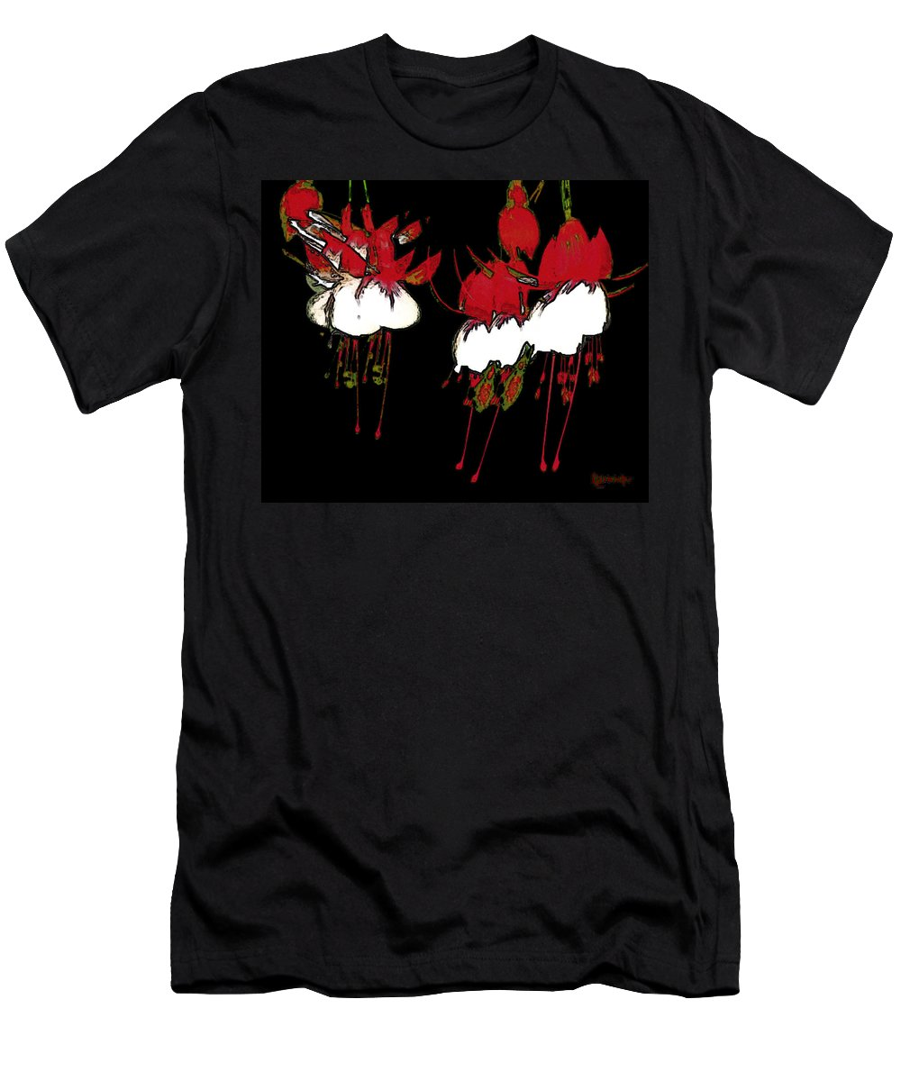 Abstract Men's T-Shirt (Athletic Fit) featuring the digital art Dance Ballerinas Dance by RC DeWinter