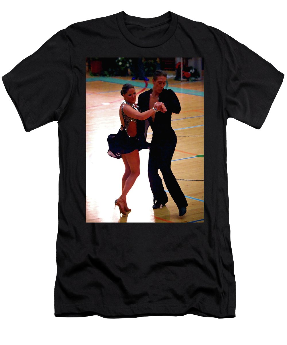 Lehtokukka Men's T-Shirt (Athletic Fit) featuring the photograph Dance Contest Nr 05 by Jouko Lehto