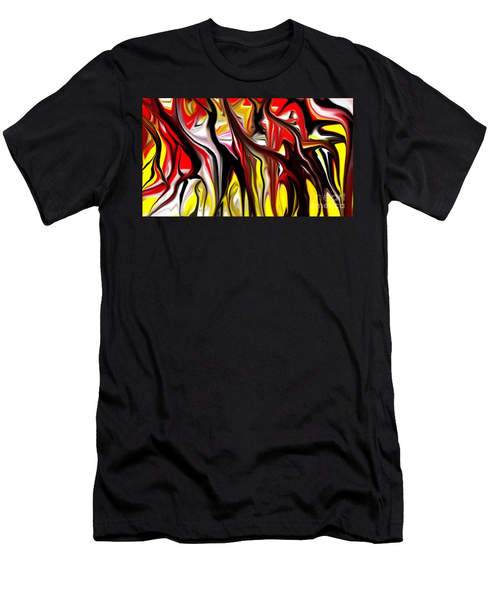 Abstract Men's T-Shirt (Athletic Fit) featuring the digital art Dance Of The Sugar Plum Faries by David Lane