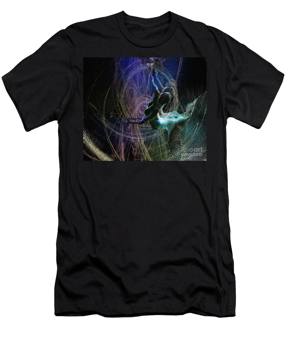 Nature Painting Men's T-Shirt (Athletic Fit) featuring the painting Dance Of The Universe by Miki De Goodaboom