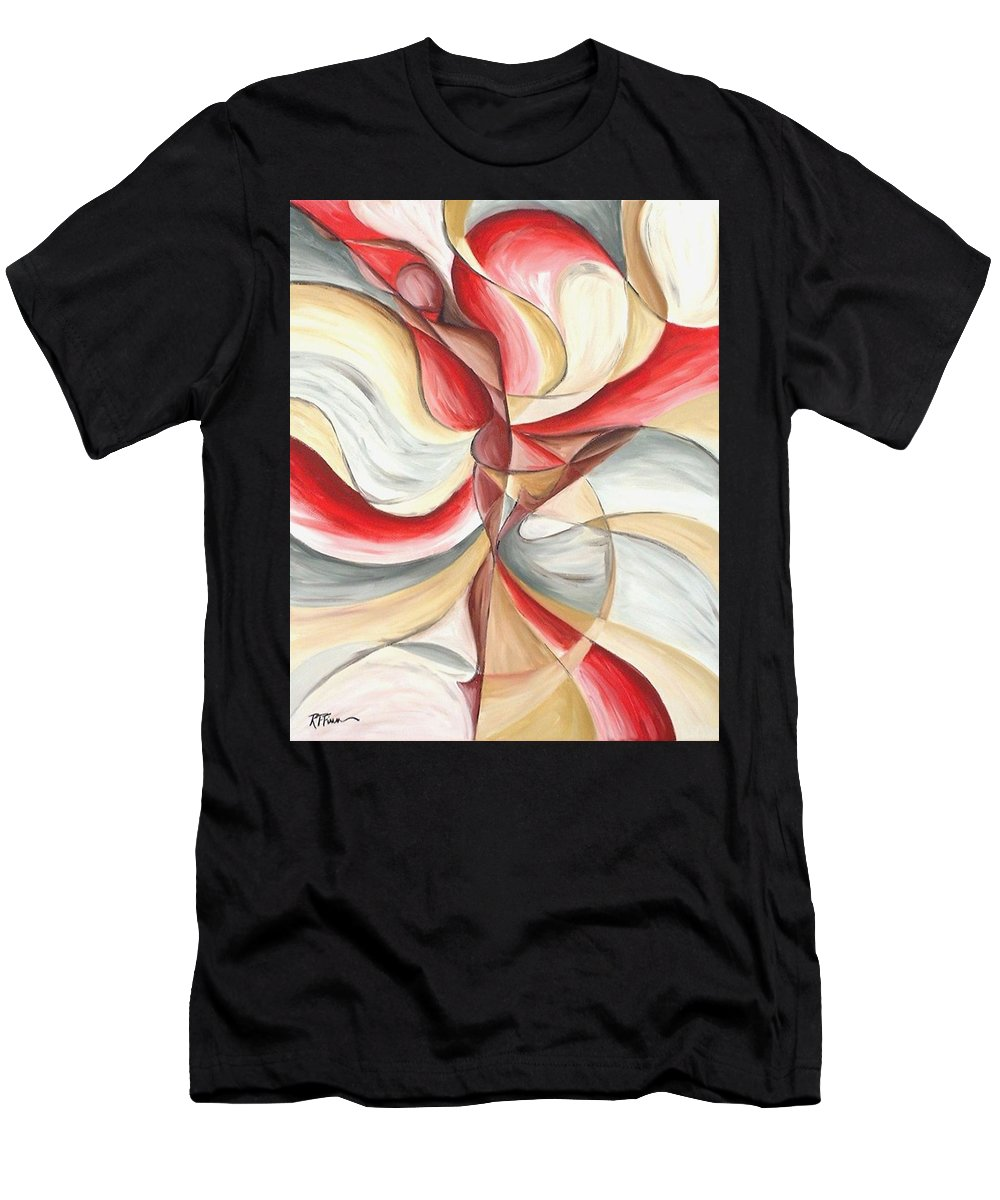 Figure Men's T-Shirt (Athletic Fit) featuring the painting Dancer II by Rowena Finn