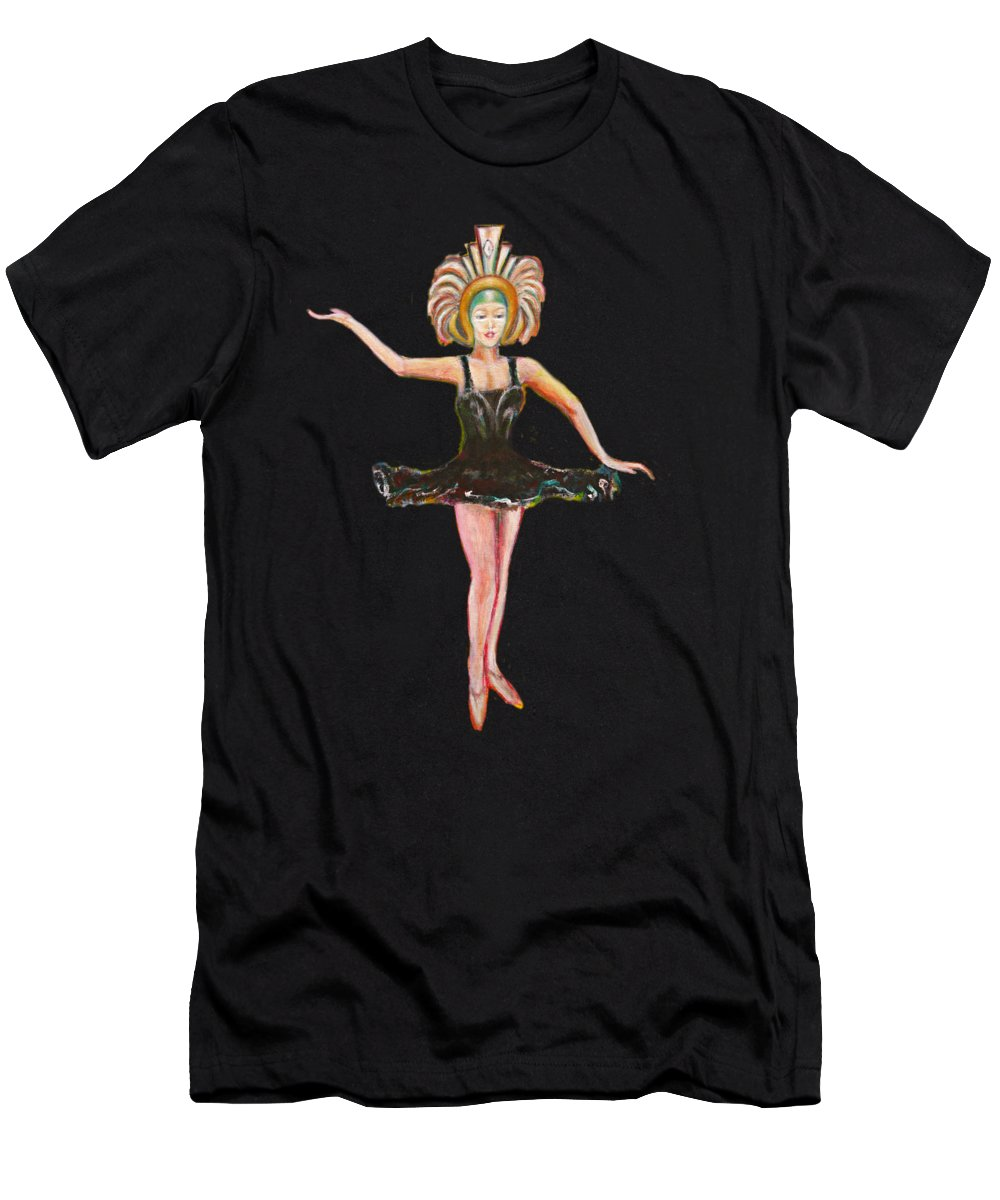 Dance T-Shirt featuring the painting Dancer in the Black Tutu by Tom Conway