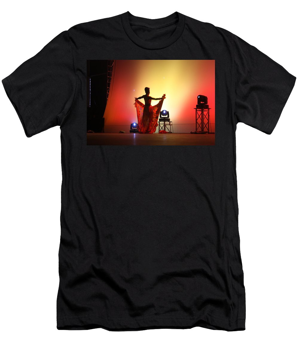 Dancer Men's T-Shirt (Athletic Fit) featuring the photograph Dancer In The Shadows by Jo Hoden