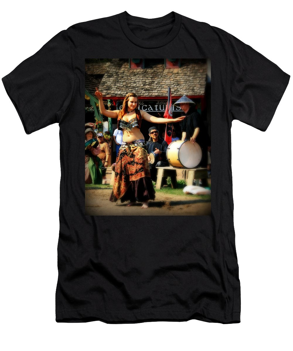 Dance Men's T-Shirt (Athletic Fit) featuring the photograph Dancer by Perry Webster