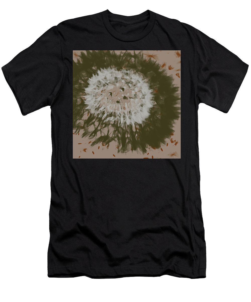 Dandelion Men's T-Shirt (Athletic Fit) featuring the digital art Dandelion Emu 3 by Novy Rich