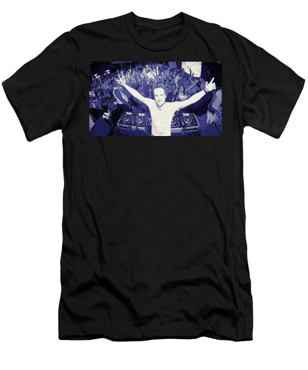 Dannic Men's T-Shirt (Athletic Fit) featuring the digital art Dannic by Lora Battle