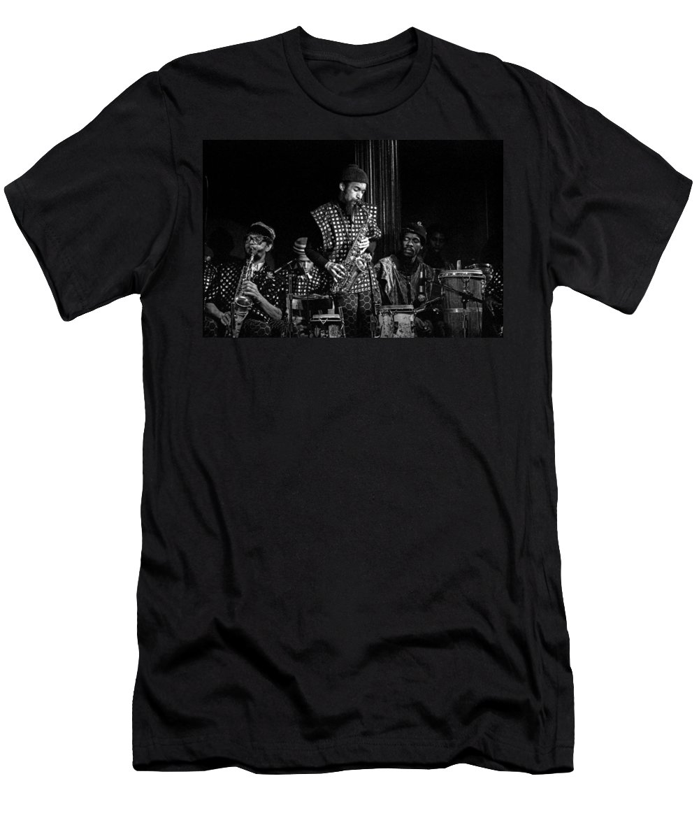 Jazz Men's T-Shirt (Athletic Fit) featuring the photograph Danny Davis With Sun Ra Arkestra by Lee Santa