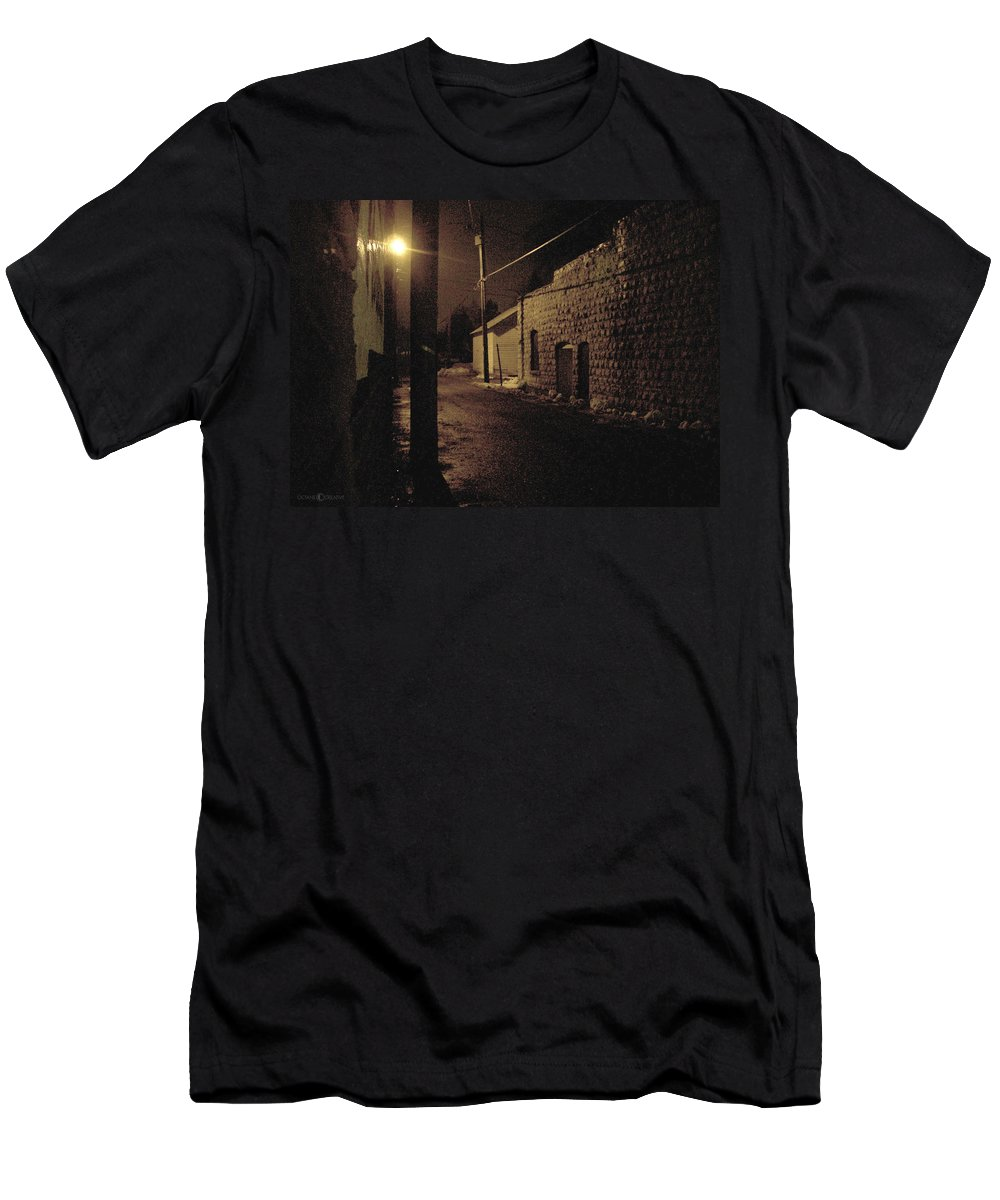 Alley Men's T-Shirt (Athletic Fit) featuring the photograph Dark Alley by Tim Nyberg