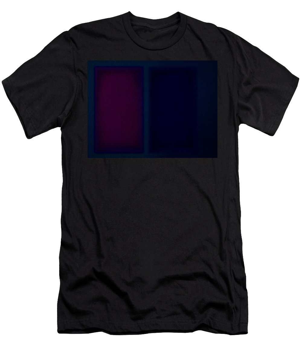 Rothko Men's T-Shirt (Athletic Fit) featuring the painting Dark Blue by Charles Stuart
