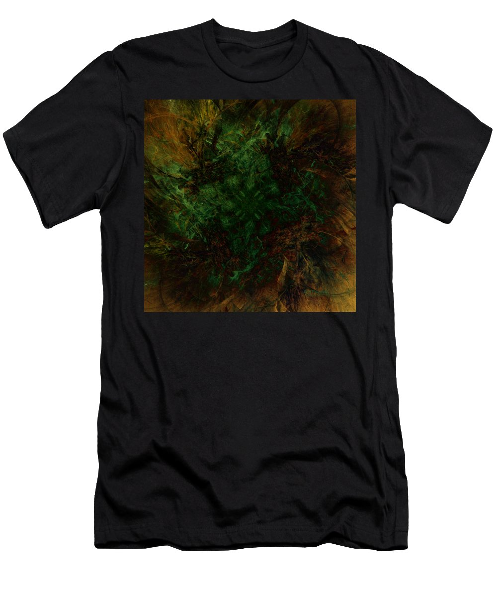 Abstract Men's T-Shirt (Athletic Fit) featuring the digital art Dark Brambles by Diane Parnell