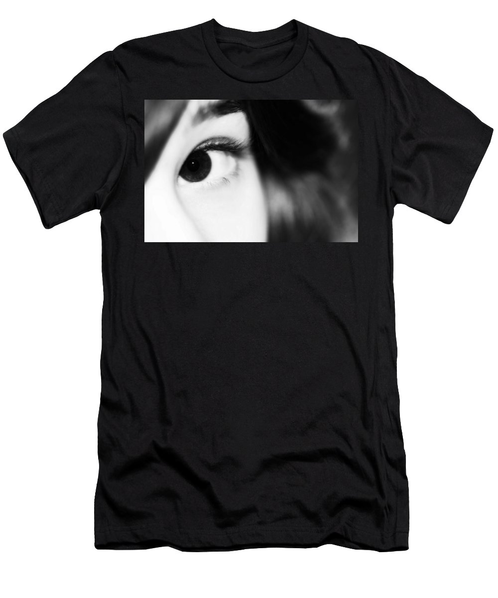 Angel Men's T-Shirt (Athletic Fit) featuring the photograph Dark Eyed Angel by Lisa Knechtel
