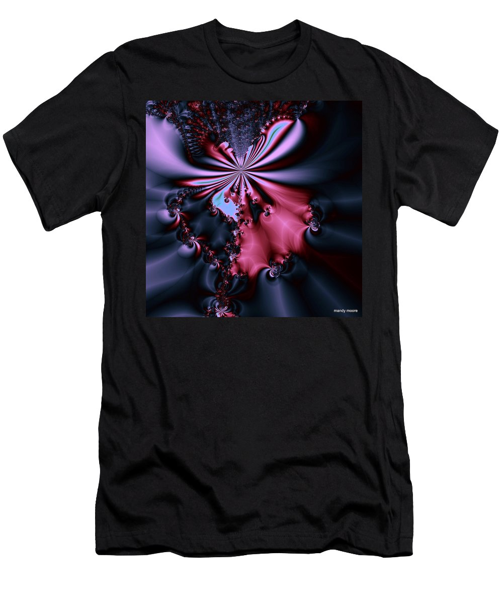 Digital Art Men's T-Shirt (Athletic Fit) featuring the digital art Dark Orchid by Amanda Moore