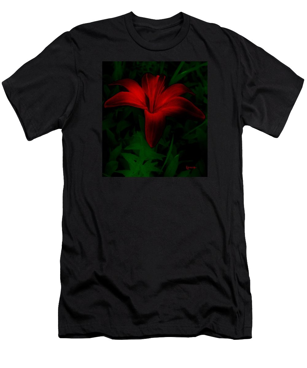 Lily Men's T-Shirt (Athletic Fit) featuring the painting Dark Star by RC DeWinter