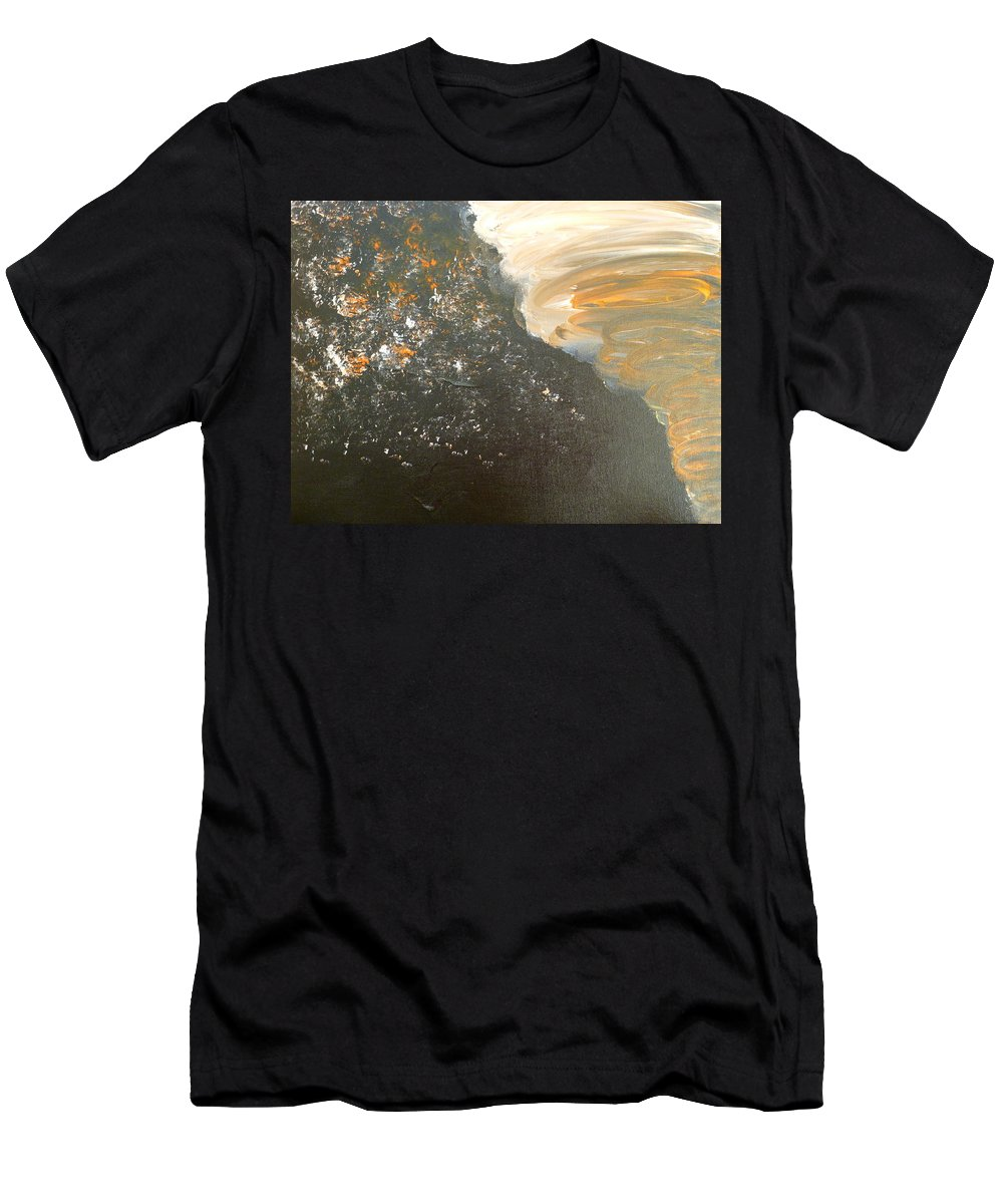 Dark Men's T-Shirt (Athletic Fit) featuring the painting Dark Storm by Barbara Yearty