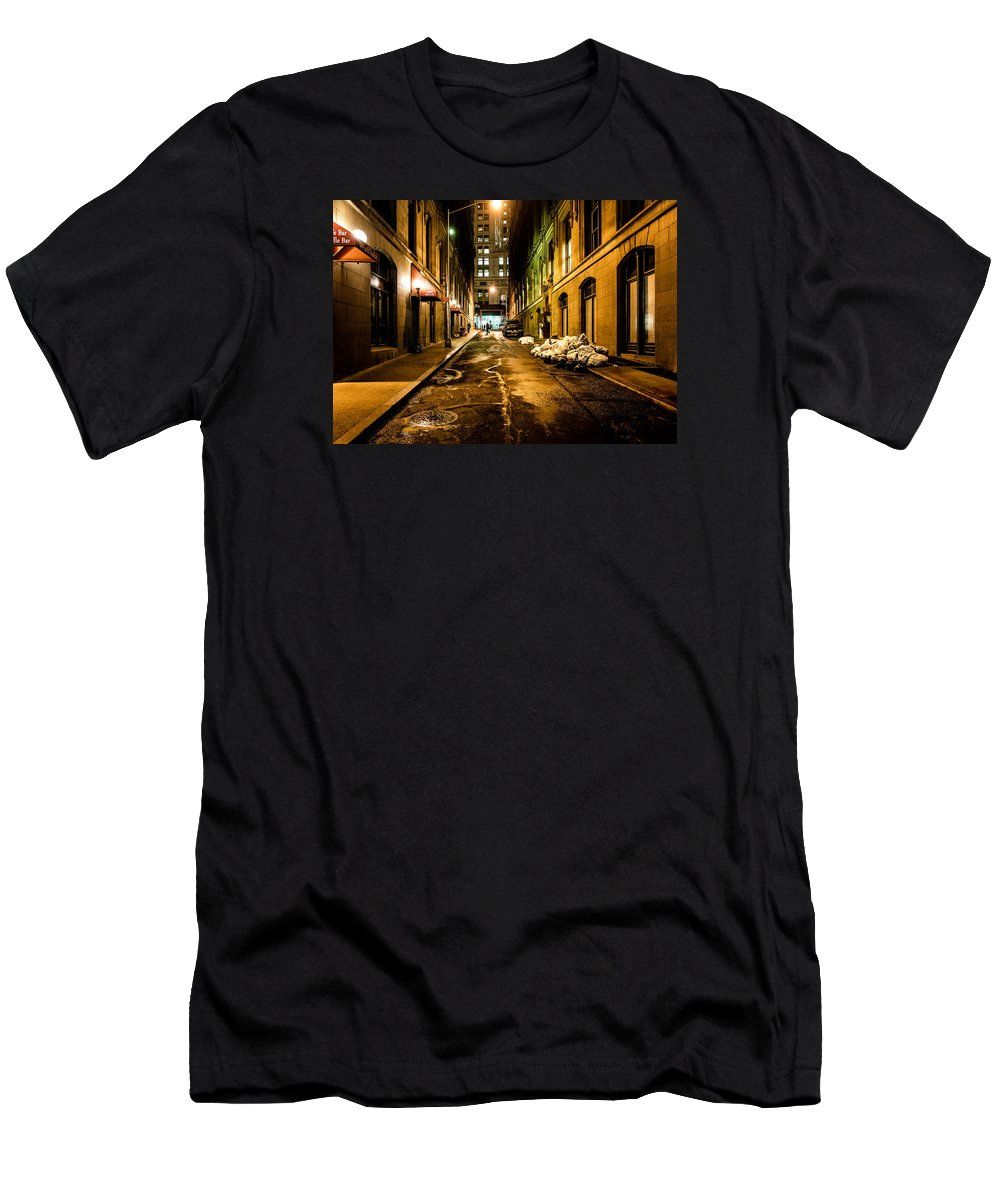 New York Men's T-Shirt (Athletic Fit) featuring the photograph Dark Street by M G Whittingham