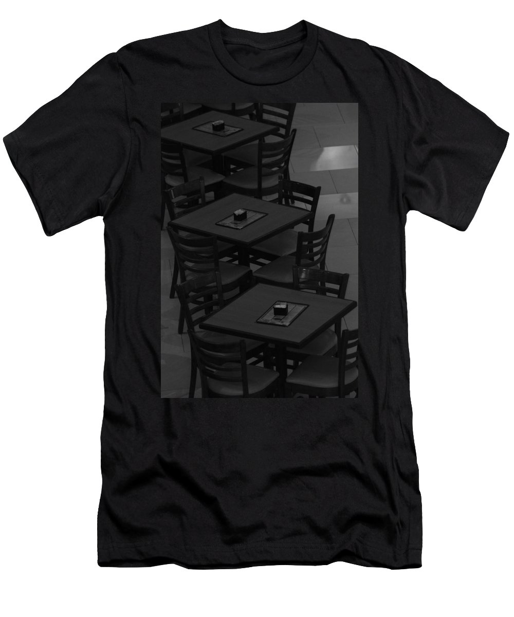 Tables Men's T-Shirt (Athletic Fit) featuring the photograph Dark Tables by Rob Hans