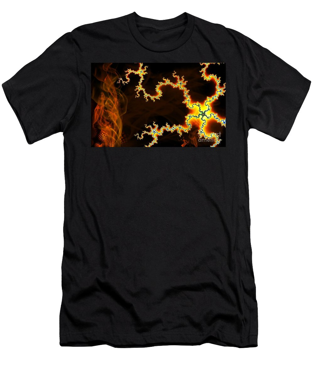 Clay Men's T-Shirt (Athletic Fit) featuring the digital art Dark World by Clayton Bruster