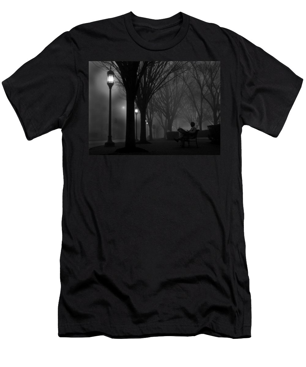 Night Men's T-Shirt (Athletic Fit) featuring the photograph Darkness Falls by Lori Deiter