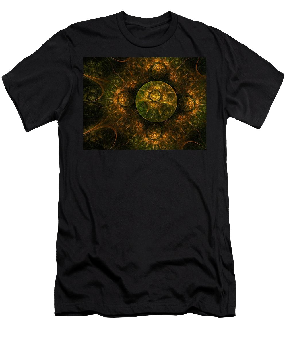 Abstract Men's T-Shirt (Athletic Fit) featuring the digital art Darkness Looms by Lyle Hatch
