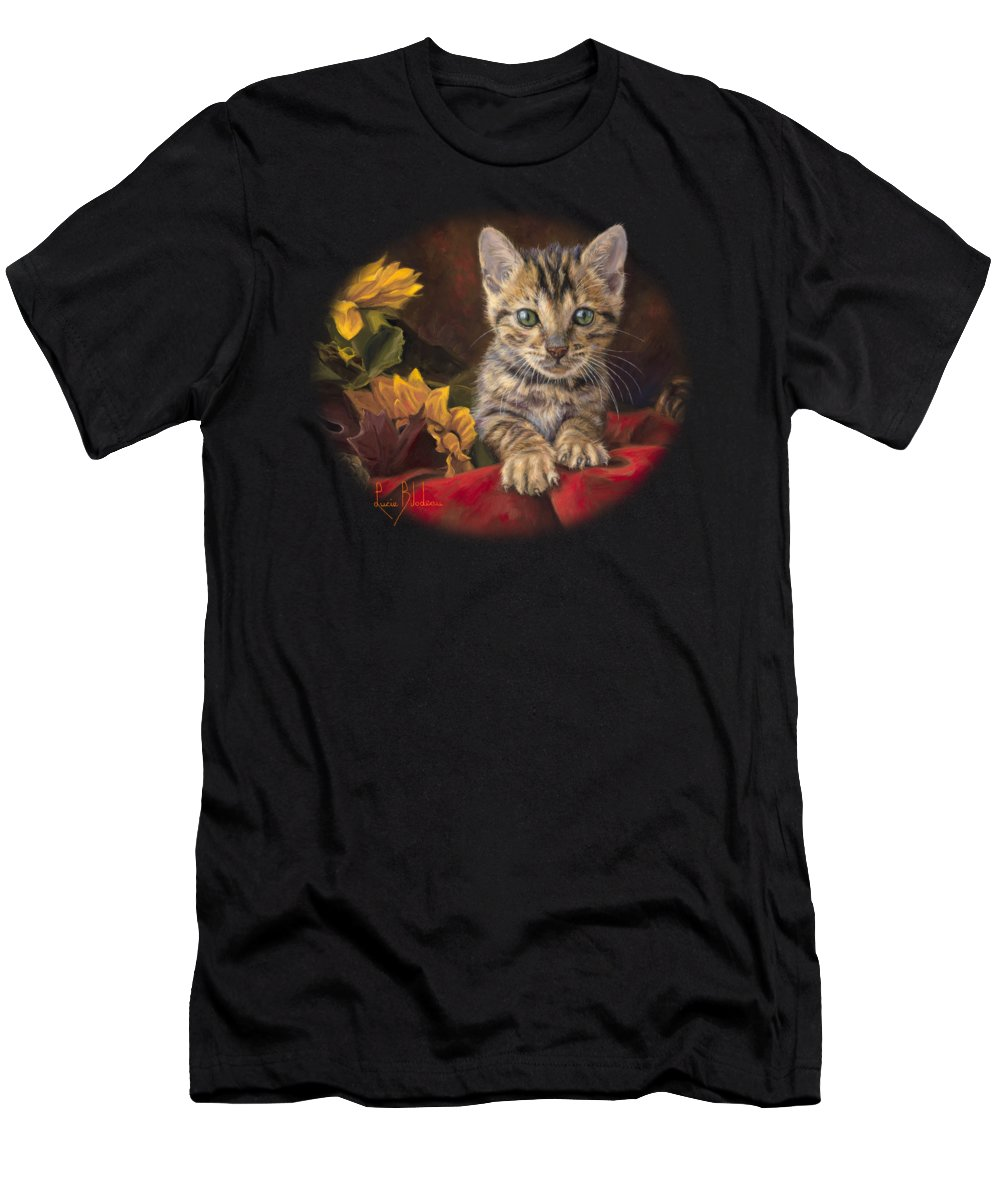 Cat Men's T-Shirt (Athletic Fit) featuring the painting Darling by Lucie Bilodeau