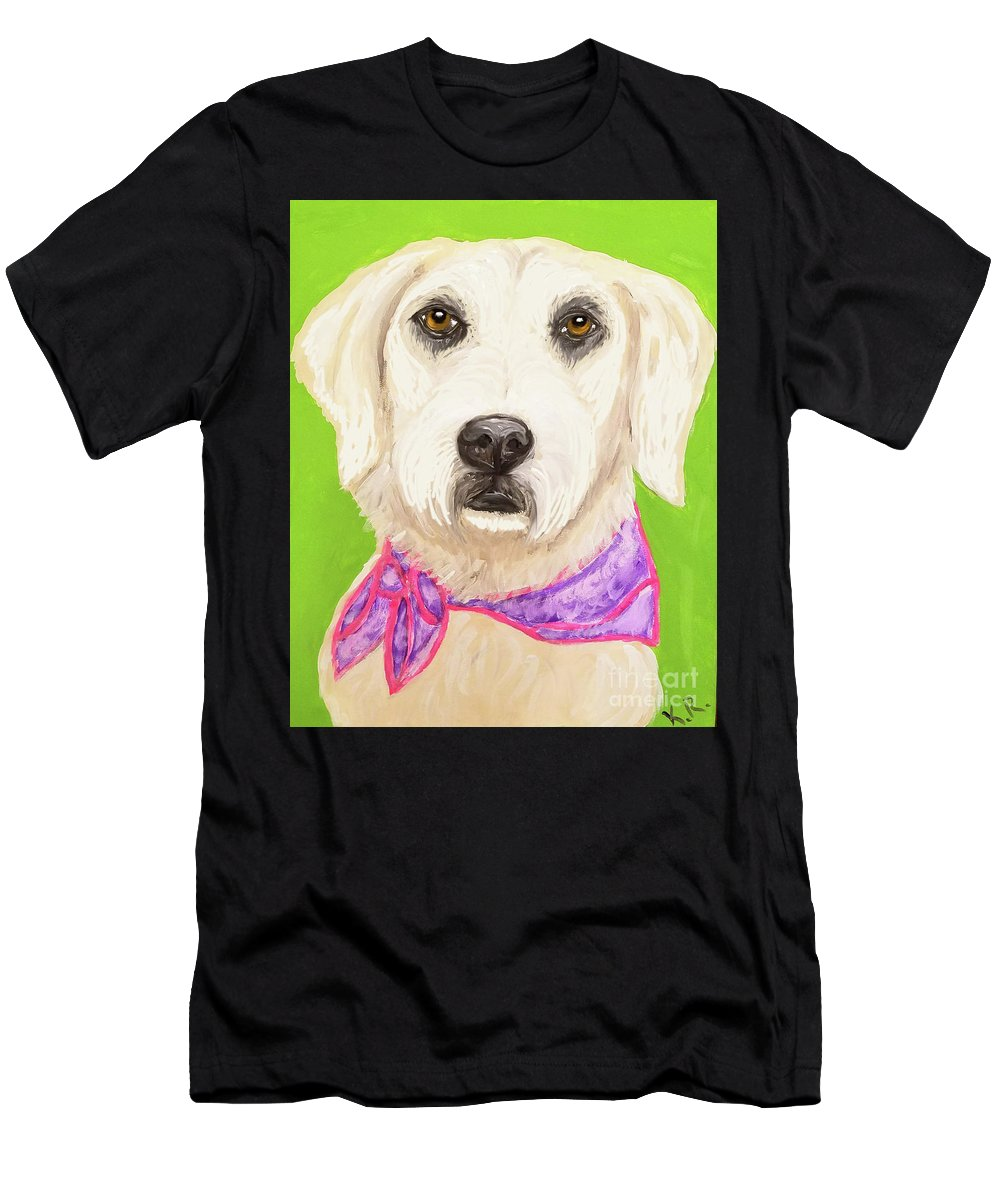Pet Men's T-Shirt (Athletic Fit) featuring the painting Date With Paint Feb 19 Sally by Ania M Milo