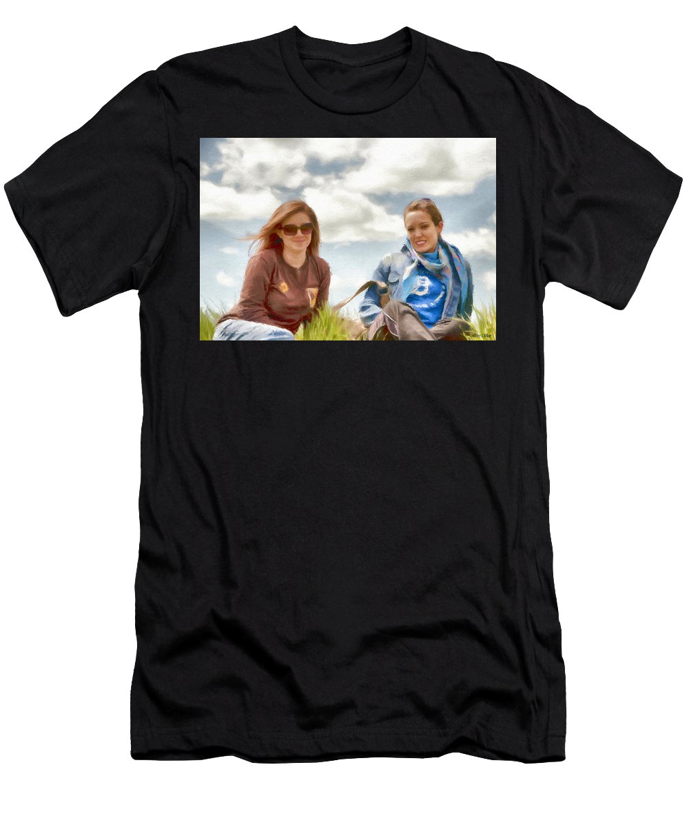 Canadian Men's T-Shirt (Athletic Fit) featuring the painting Daughters by Jeffrey Kolker