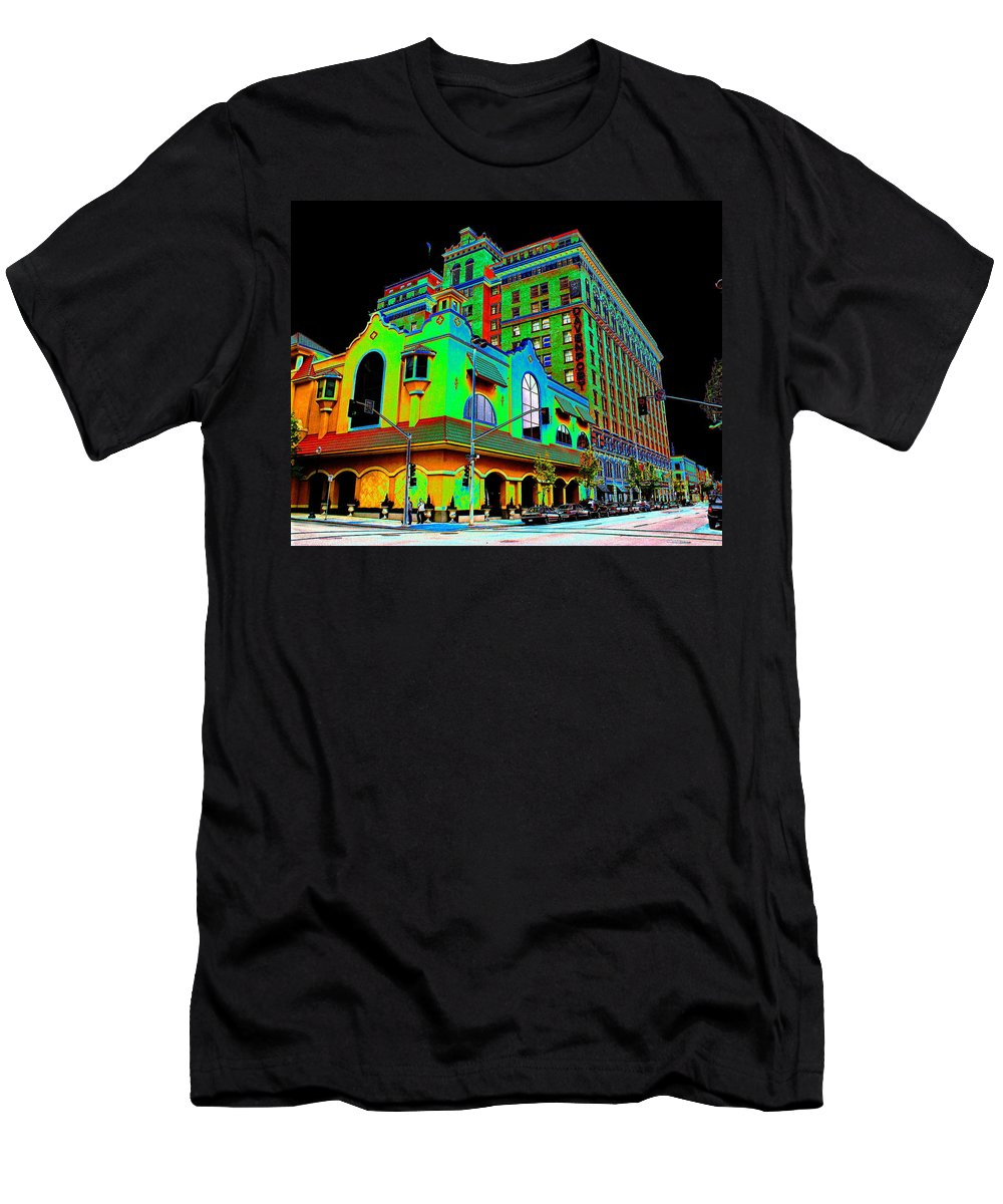 Davenport Hotel Men's T-Shirt (Athletic Fit) featuring the photograph Davenport Hotel Downtown Spokane by Ben Upham III