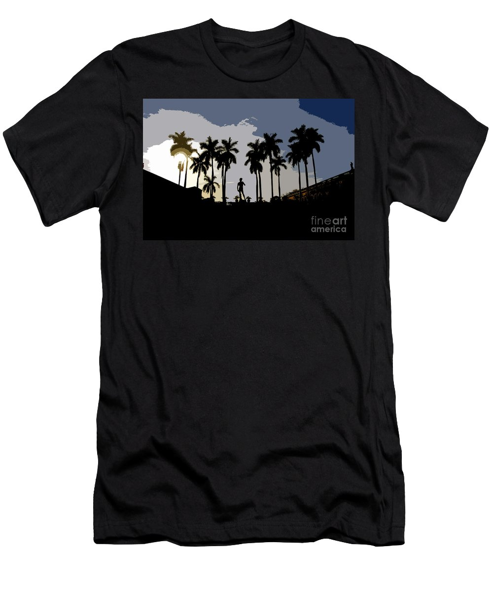 David Men's T-Shirt (Athletic Fit) featuring the painting David by David Lee Thompson