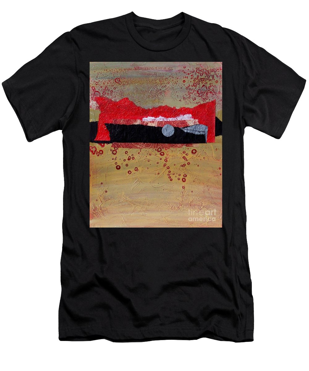 Abstract Men's T-Shirt (Athletic Fit) featuring the painting Dawn Ascension by Donna Frost