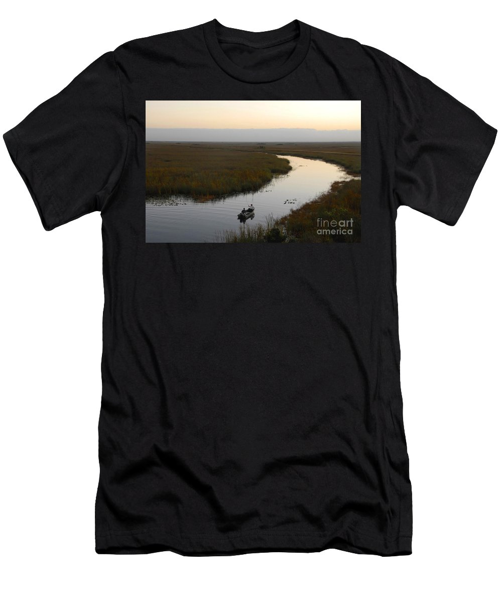 Fishing Men's T-Shirt (Athletic Fit) featuring the photograph Dawn Everglades Florida by David Lee Thompson