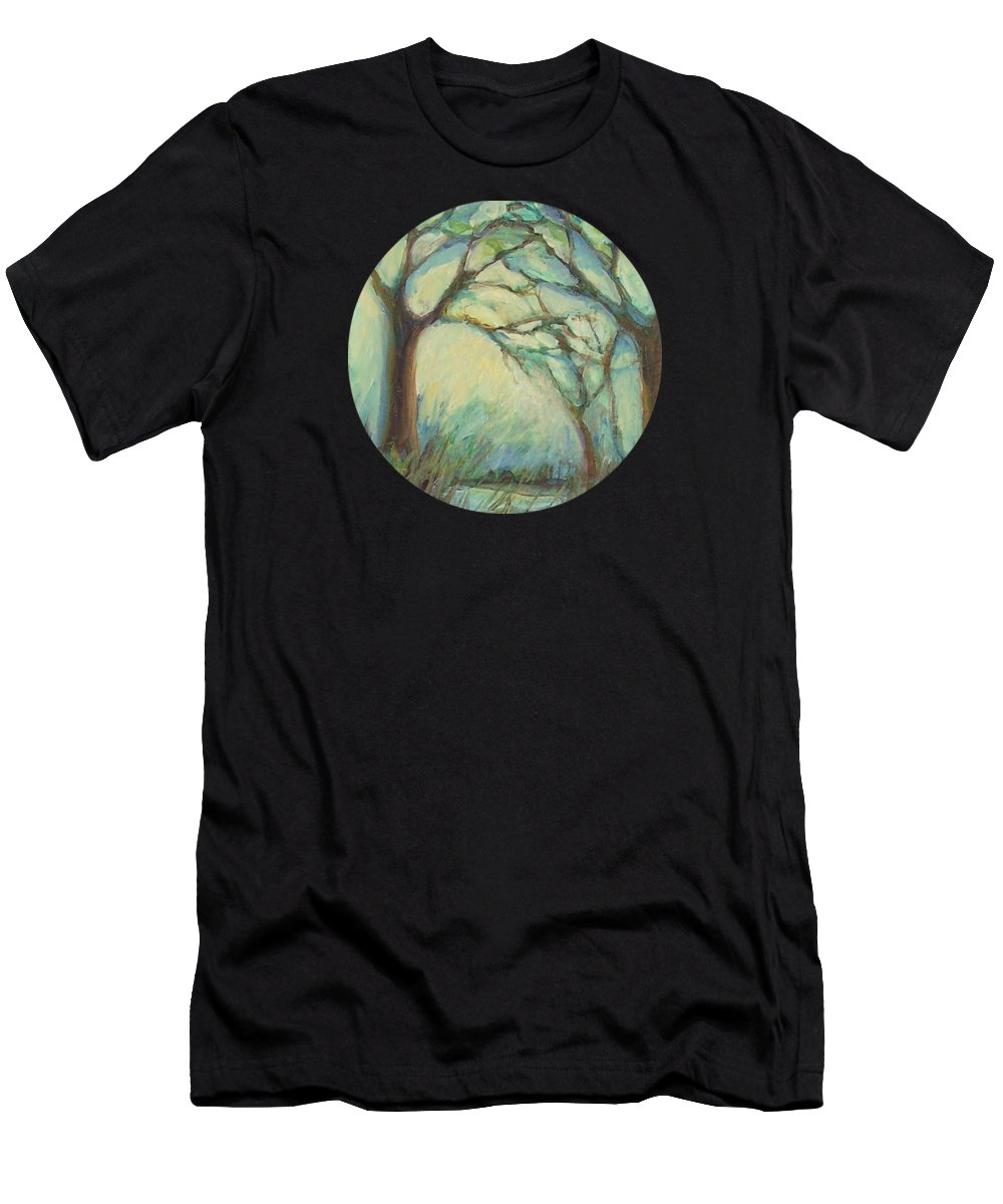 Impressionism Men's T-Shirt (Athletic Fit) featuring the painting Dawn by Mary Wolf
