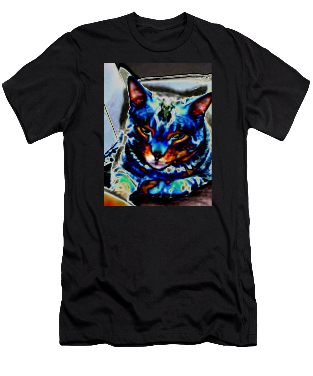 Cat Men's T-Shirt (Athletic Fit) featuring the photograph Day Dreamer by Dawn Johansen