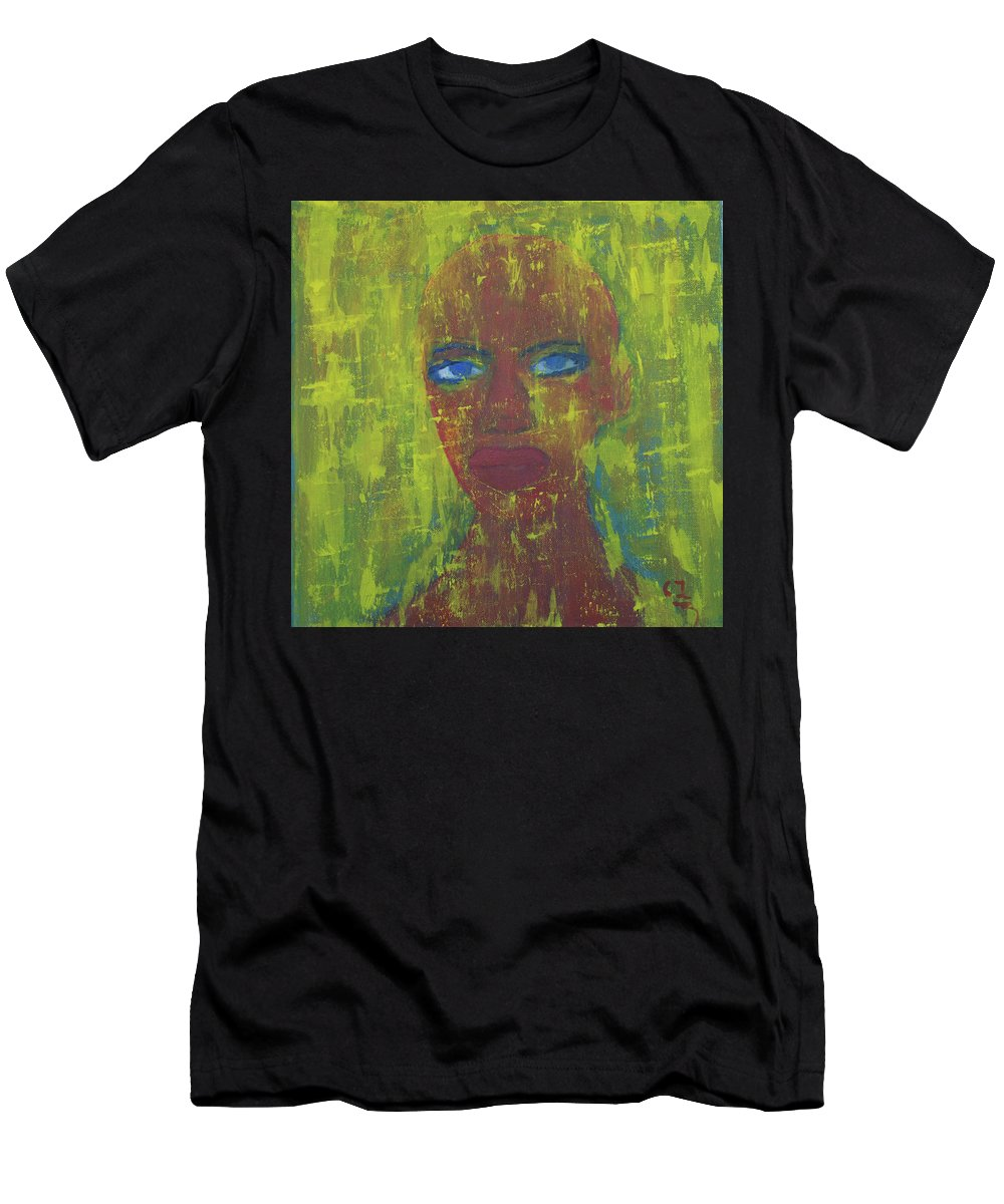 Portrait Abstract Men's T-Shirt (Athletic Fit) featuring the painting Day by Crina Iancau