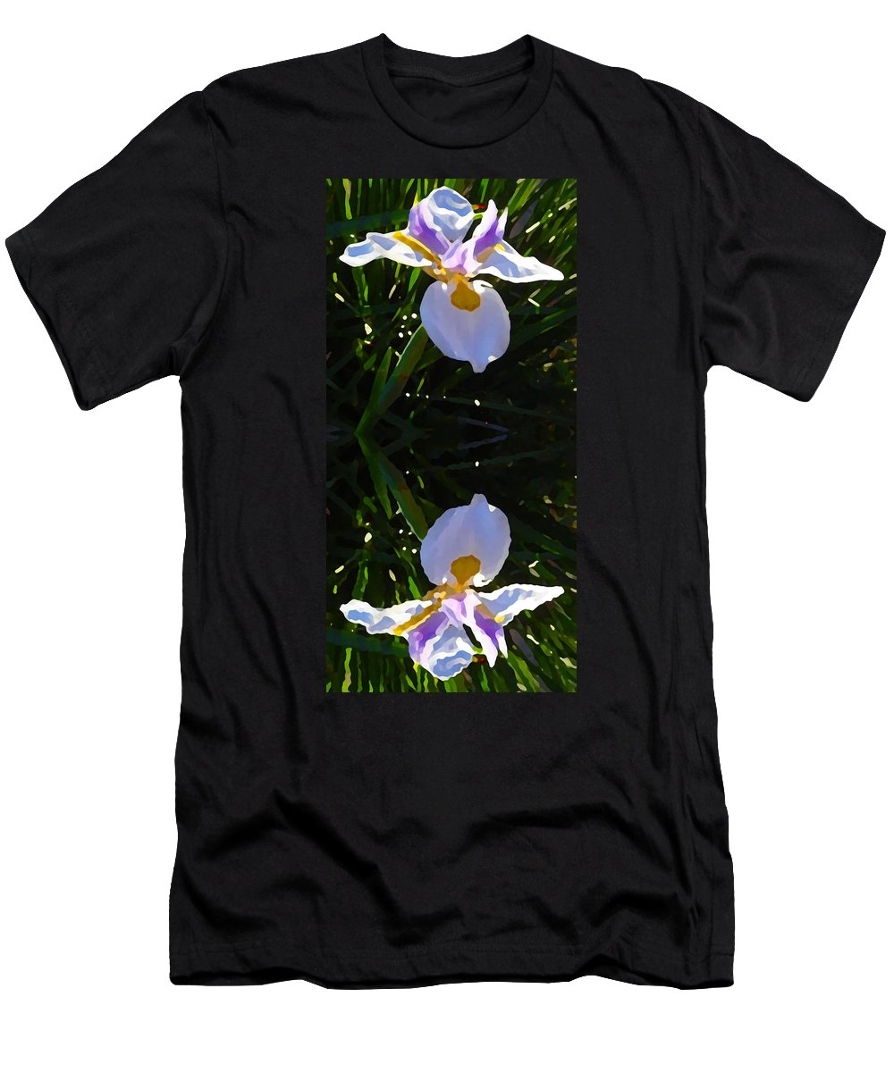 Daylily Men's T-Shirt (Athletic Fit) featuring the painting Day Lily Reflection by Amy Vangsgard