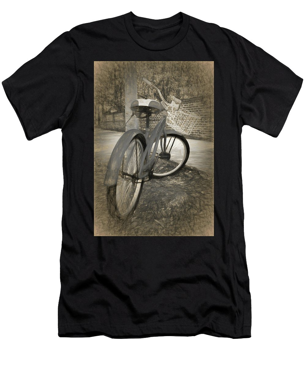 Transportation Men's T-Shirt (Athletic Fit) featuring the photograph Days Remembered by Marcia Colelli