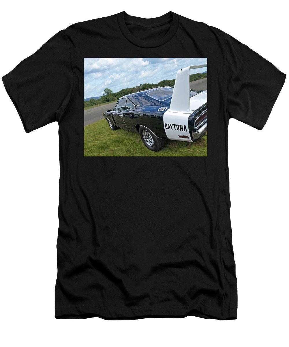 Dodge Charger Men's T-Shirt (Athletic Fit) featuring the photograph Daytona Charger by Gill Billington