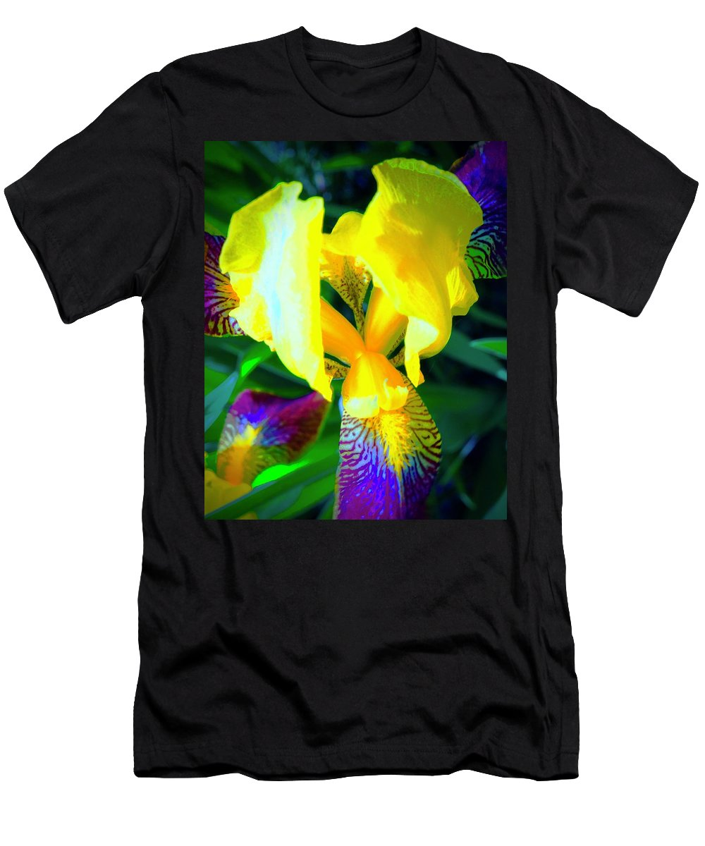 Iris Men's T-Shirt (Athletic Fit) featuring the photograph Dazzle In The Garden Sun by Tim G Ross