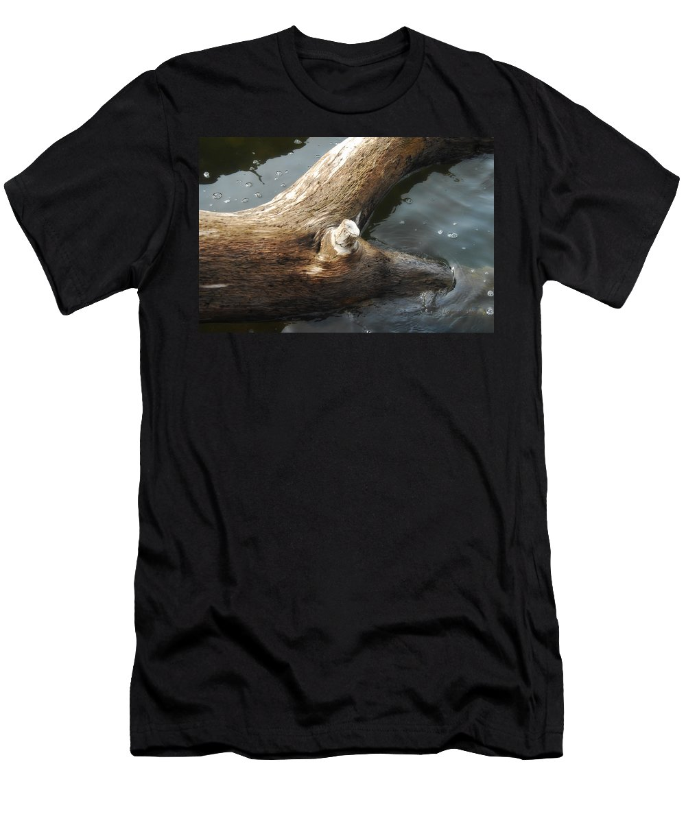 Wood Men's T-Shirt (Athletic Fit) featuring the photograph Dead Wood by Donna Blackhall
