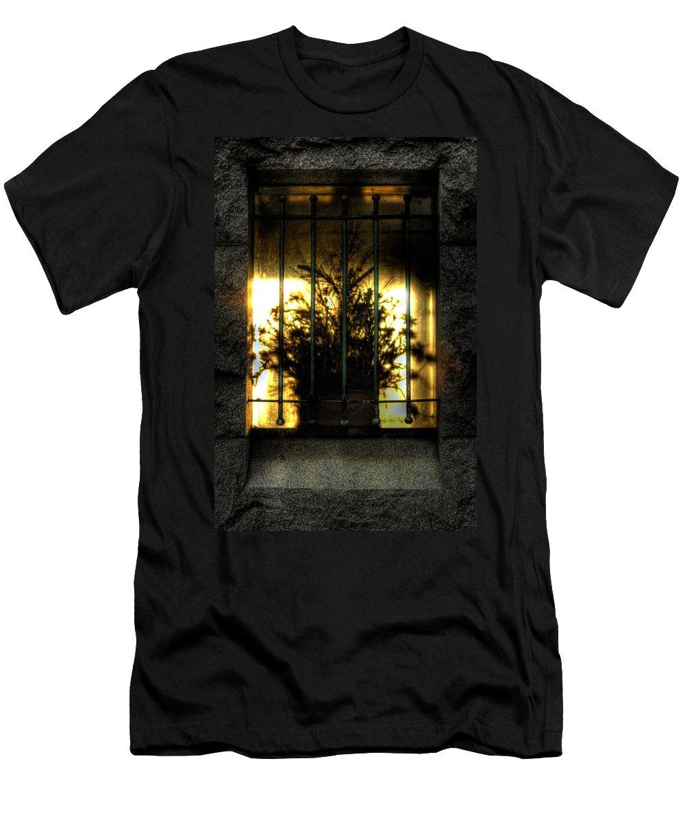 Flower Men's T-Shirt (Athletic Fit) featuring the photograph Death's Nursery by Scott Wyatt