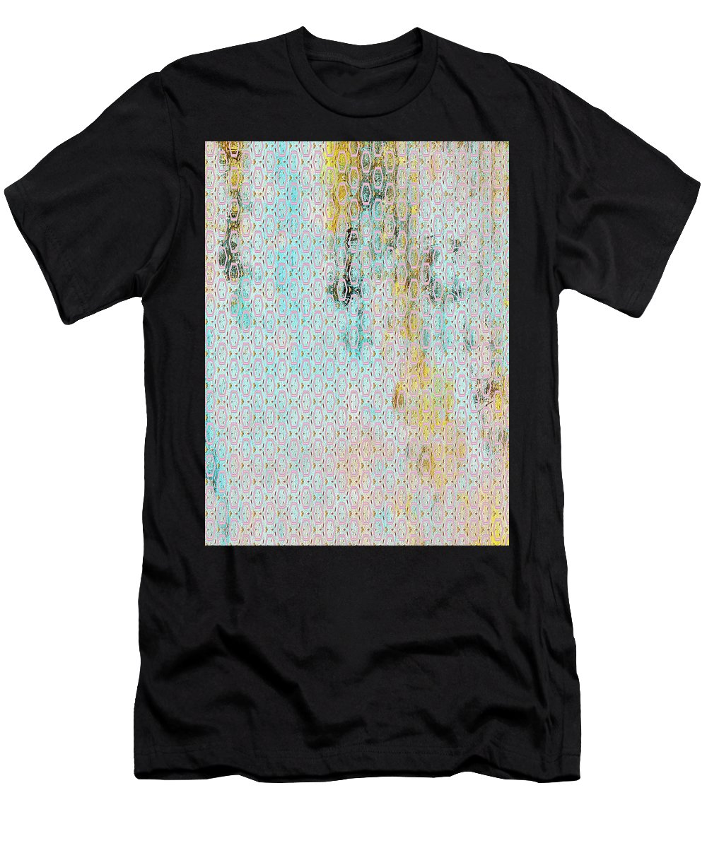 Decadent Urban Light Colored Men's T-Shirt (Athletic Fit) featuring the mixed media Decadent Urban Light Colored Patterned Abstract Design by Georgiana Romanovna