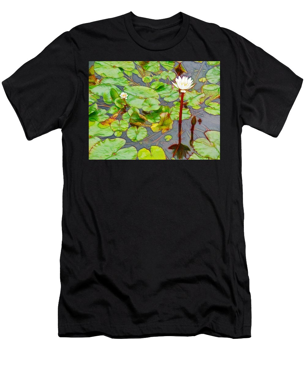 Lotus Men's T-Shirt (Athletic Fit) featuring the painting Decontamination by Jeelan Clark