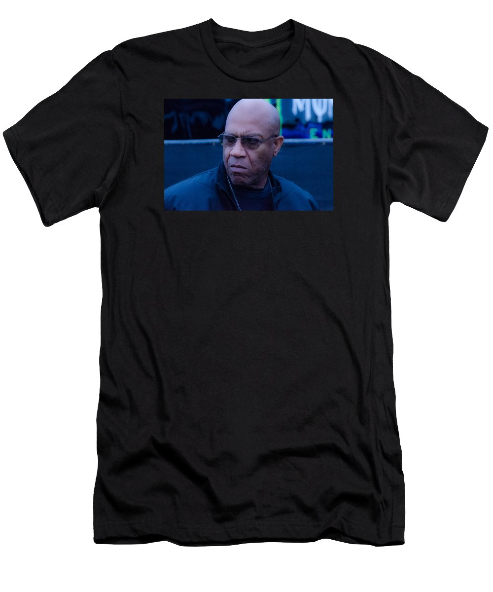 Badass Men's T-Shirt (Athletic Fit) featuring the photograph Deebo by Christina Bailey