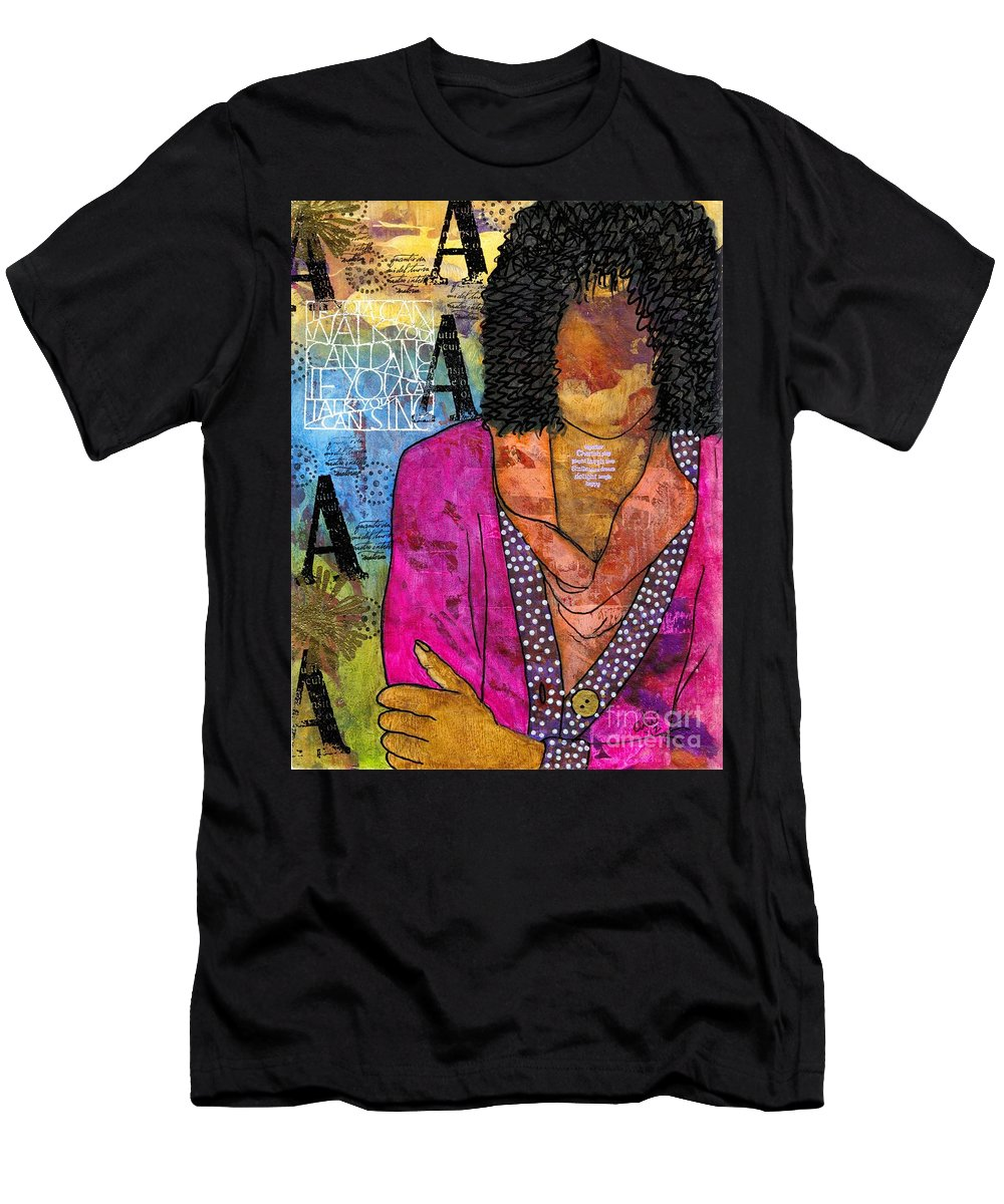 Acrylic T-Shirt featuring the painting Deep In Thought by Angela L Walker