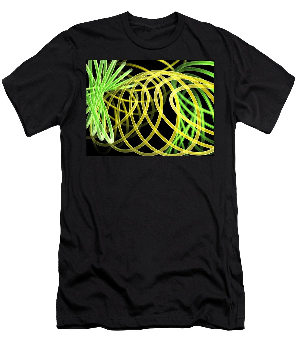 Green Men's T-Shirt (Athletic Fit) featuring the digital art Deep Trance by Scott Piers