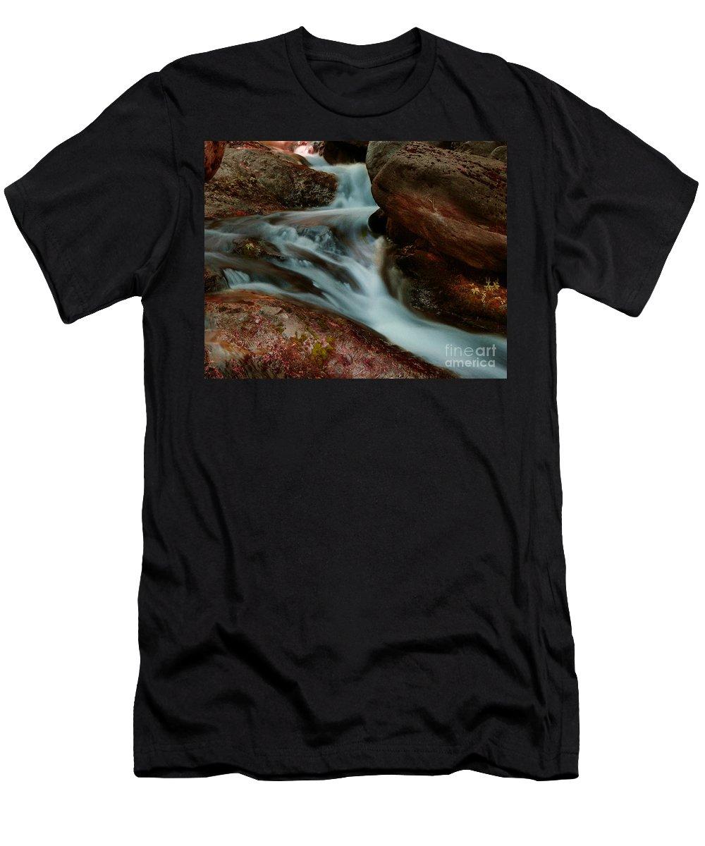 Creek Men's T-Shirt (Athletic Fit) featuring the photograph Deer Creek 04 by Peter Piatt