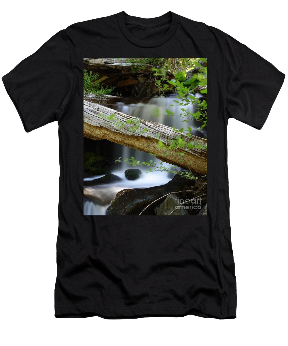 Creek Men's T-Shirt (Athletic Fit) featuring the photograph Deer Creek 13 by Peter Piatt
