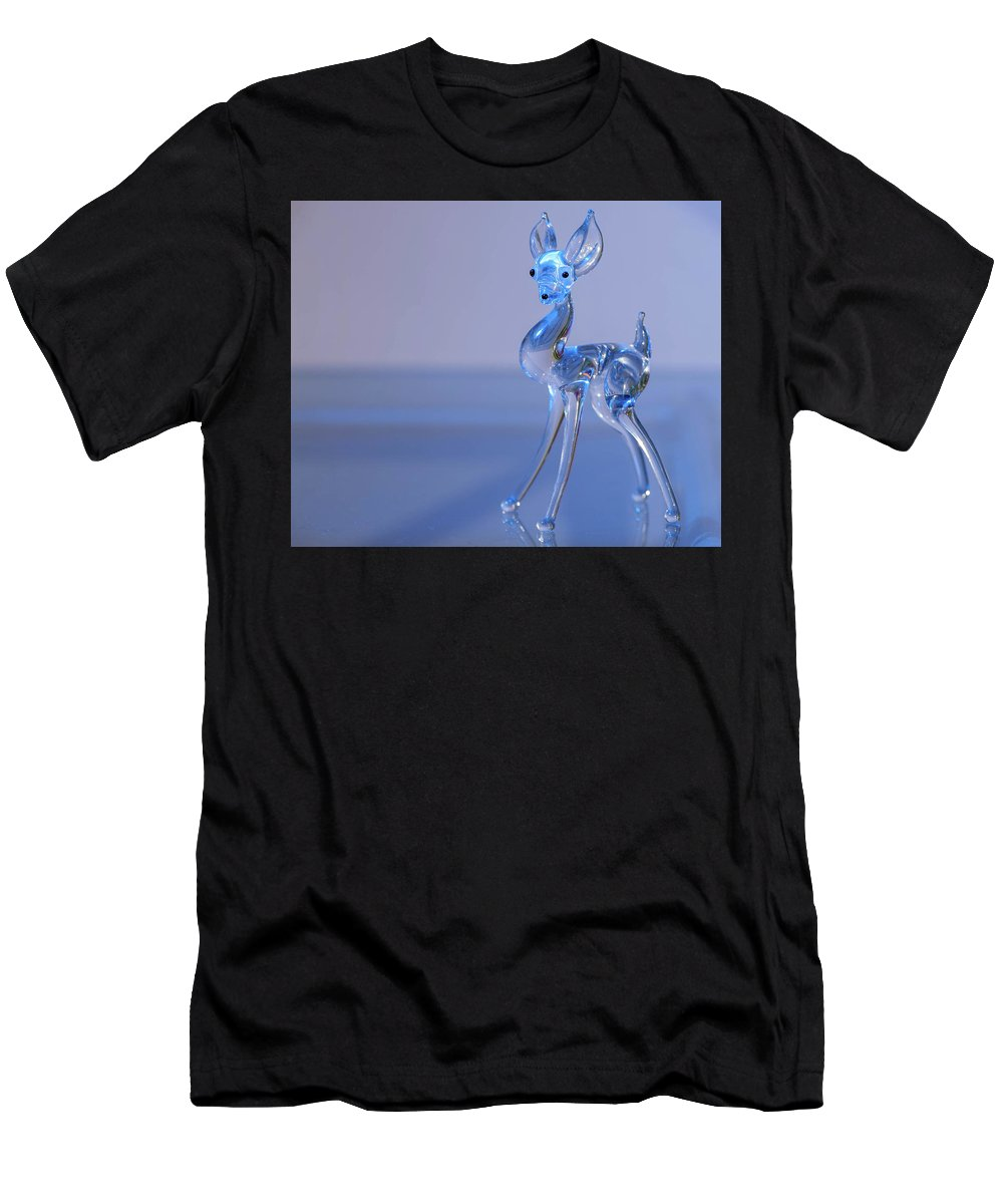 Deer Men's T-Shirt (Athletic Fit) featuring the photograph Deer Made Of Glass by Stefan Rotter