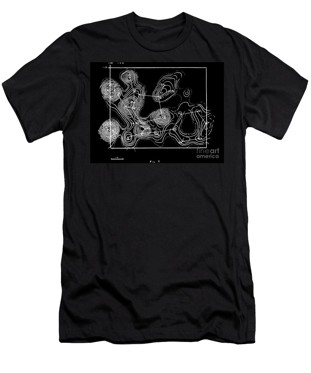 Historic Men's T-Shirt (Athletic Fit) featuring the photograph Degradation, Diagram, Ernst Boris Chain by Wellcome Images