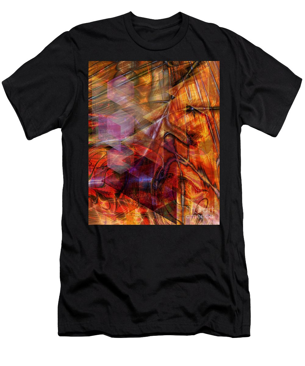 Deguello Sunrise Men's T-Shirt (Athletic Fit) featuring the digital art Deguello Sunrise by John Beck