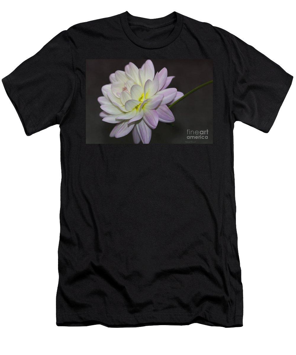 Flower Men's T-Shirt (Athletic Fit) featuring the photograph Delicate Dahlia Balance by Deborah Benoit